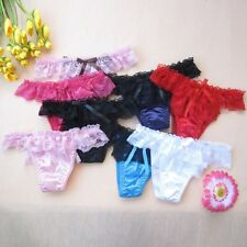 7 Pack Women's Satin Silk & Lace Knickers Lingerie Underwear. One Size 6-10.
