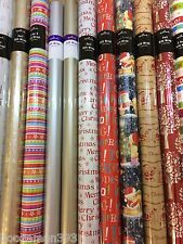 20m Hallmark Christmas Wrapping Paper & Foil Gift Wrap - Clearance