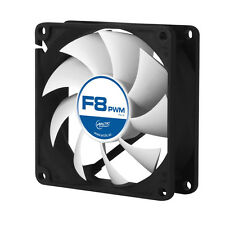 Arctic F8 PWM Rev.2 80mm 8cm PC Gaming Case Fan Silent, 6Yr Wty