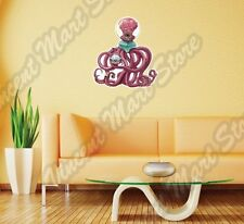"Alien UFO Octopus Outer Space Monster Wall Sticker Room Interior Decor 25""X22"""