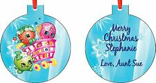 Personalized Shopkins Ornament ( Add Any Message You Want)