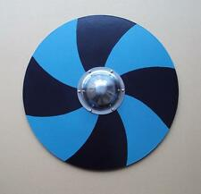 Hand Painted Blue & Black Wooden Viking Shield Perfect For Costume & Stage etc