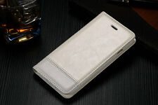 Genuine Leather Stand Wallet Case Magnetic Flip  Shockproof Protect Phone Cover