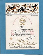 PAUILLAC 1EGCC ETIQUET CHATEAU MOUTON ROTHSCHILD 1957 36.5 CL DECOREE §28/09/16§