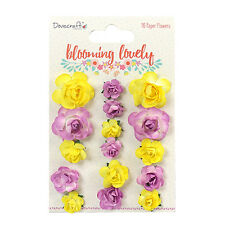 Dovecraft Blooming Lovely Paper Flowers Embellishments for cards and crafts