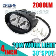 1Pc of Oval Shape 20Watt Cree Car / Bike White led fog light Lamp Enfield bullet