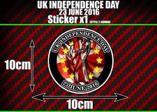 UK Giorno Dell'indipendenza Adesivo Decalcomania x1 Referendum EU Euro