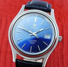 "Excellent Mens OMEGA Seamaster "" COSMIC 2000 "" Date Func Blue Dial Automatic"