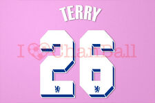 Terry #26 2011-2012 Chelsea UEFA Chaimpons League Homekit Nameset Printing