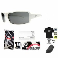 NEW Electric Visual Ec/Dc  Gloss White  Mens Wrap Sunglasses Msrp$90