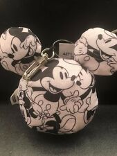 DISNEY MICKEY LOVES MINNIE LESPORTSAC MICKEY HEAD BAG CHARM RARE!