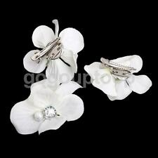 3p Bridal Wedding White Flower Hair Clip Barrette Brooch Pins Hair Accessory