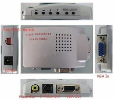 PC Laptop VGA to Video AV TV S-Video box Conversion Converter Adapter for pal