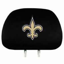 NEW ORLEANS SAINTS CAR AUTO 2 TEAM HEADREST COVERS NFL FOOTBALL