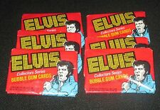 6 Sealed Wax Packs Elvis Presley 1978 Boxcar Collectors Series Bubble Gum Cards