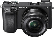 Open-Box: Sony - Alpha a6300 Mirrorless Camera with E PZ 1650 mm F3.55.6 OS...