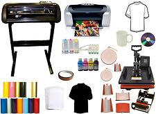 8in1 Combo Heat Press,Vinyl Cutter Plotter,Printer,CISS Mug Ink Tshirts Startup
