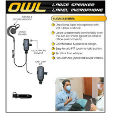 OWL Quick Release Headset for Motorola PRO EX GL GP PTX 2-Way Radios (See List)