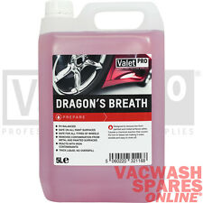 VALETPRO DRAGONS BREATH WHEEL CLEANER 5LITRE IRON X CONTAMINANT FALLOUT REMOVER