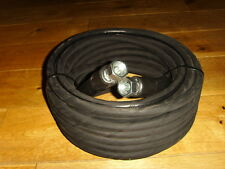 "15 10m metre heavy duty jet wash pressure power washer hose 3/8"" bsp ends"
