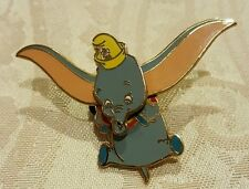 Disney Pin Dumbo The Flying Elephant Timothy Mouse in Cap Movement 3D