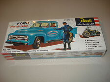 FORD PICKUP TRUCK W/COP & CYCLE - REVELL MODEL KIT#1430 - NOS - FACTORY SEALED