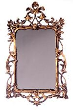 Dollhouse Miniature Mirror in Brass Frame by Falcon Miniatures