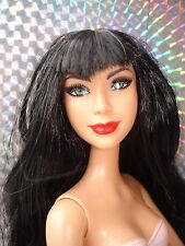 Mattel Barbie Stardoll Fallen Angel Doll with Black Hair Fringe - Painted Nails
