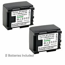 2x Kastar Battery for Canon BP-809