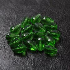 10pcs green Quality Czech Crystal GLASS water drop Spacer BEADS  11X8MM