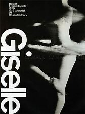ADVERTISING CULTURAL BALLET DANCE GISELLE SWITZERLAND BASLE POSTER PRINT BB2188A
