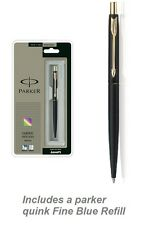 Parker Classic Matte Black GT Gold Trim Ball Pen New in gift Box Free shipping