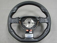 06-09 VW Golf GTI MK5 DSG Paddle Shift Flat Bottom Leather Steering Wheel OEM C