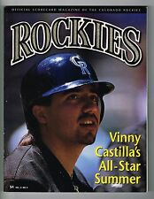 1995 Colorado Rockies MLB Baseball Magazine Volume 3 #4 Program