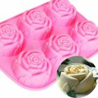 6 Pink Rose Silicone Cake Pan Pastry Baking Mold Cookie Muffin Bakeware  Mould