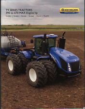"New Holland ""T9 Series"" 390 to 670hp Articulated Tractor Brochure Leaflet"
