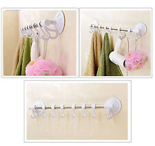 Rack Holder 8 Hooks Hat Bag Towel Clothes Over Door Bathroom Hanger Hanging UK