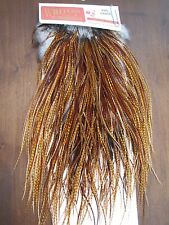 Fly Tying Whiting Pro Rooster Midge Saddle Barred Dark Ginger #A
