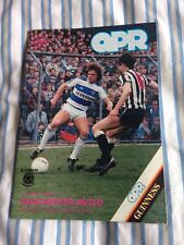 Qpr Vs Manchester United Division 1 Programme May 11th 1985 1984/1985