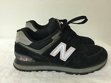 New Balance W574KPS Women Running shoes  Black/Silver/Pink Leather/Mesh size 7B