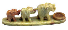 Beautiful Hand Carved Soapstone Elephant  Cone Incense Burner ~ FREE SHIPPING