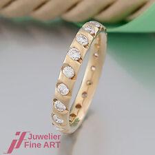 Ring - Memoire-Ring mit 20 Brillant(en)(Diamant)ges.ca.1,10ct - 18K/750 Gelbgold