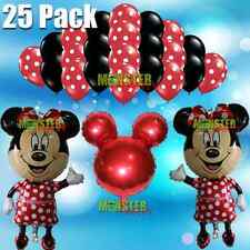 25 Pack Minie Mouse Birthday Party Balloons Balloon red Bow Tie