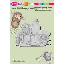 New STAMPENDOUS House Mouse RUBBER STAMP SING A SONG Free us sHIP cling