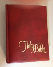 Large HOLY BIBLE Catholic Family 1972-73 Edition New American Bible Red