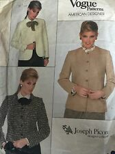 """Coupe vintage années 1980 """"vogue"""" designer américain veste modèle 2828 taille 16 38"""" b"""