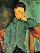 AMEDEO MODIGLIANI BOY IN A BLUE JACKET OLD MASTER ART PAINTING PRINT 140OMA