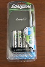 Energizer Recharge Rapid Charger CH15MNCP4 with 4 AA Batteries, Car & AC Adapter