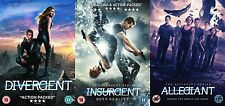 Divergent Insurgent Allegiant Trilogy All 3 Movie Film Triple New R2 UK DVD Pack