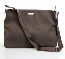 NEW Authentic GUCCI Mens Brown Canvas MESSENGER BAG LAPTOP SLING BAG  278301